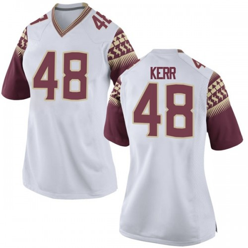 Women's Nike Armani Kerr Florida State Seminoles Replica White Football College Jersey