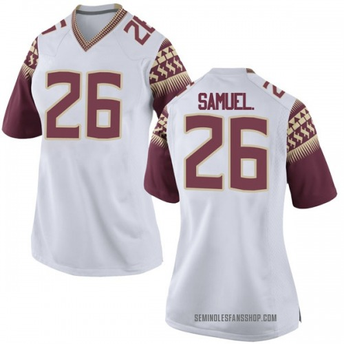 Women's Nike Asante Samuel Jr. Florida State Seminoles Game White Football College Jersey