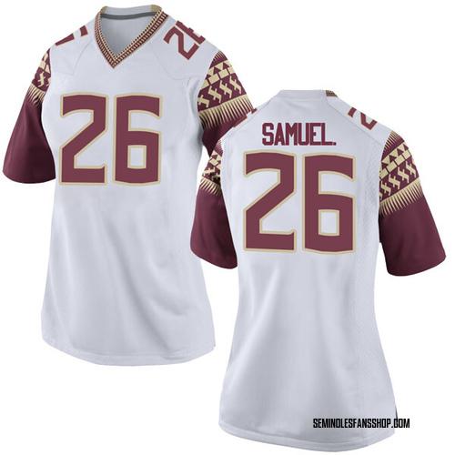 Women's Nike Asante Samuel Jr. Florida State Seminoles Replica White Football College Jersey