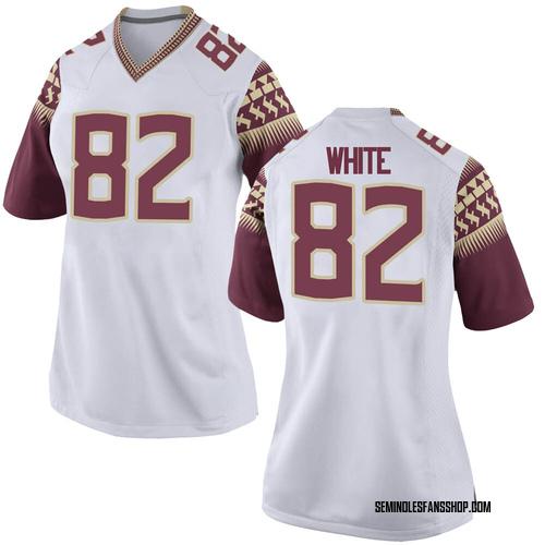 Women's Nike Austin White Florida State Seminoles Game White Football College Jersey