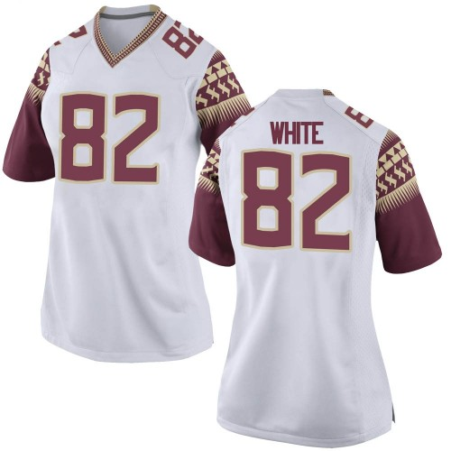 Women's Nike Austin White Florida State Seminoles Replica White Football College Jersey