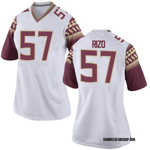 Women's Nike Axel Rizo Florida State Seminoles Replica White Football College Jersey
