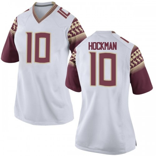 Women's Nike Bailey Hockman Florida State Seminoles Replica White Football College Jersey