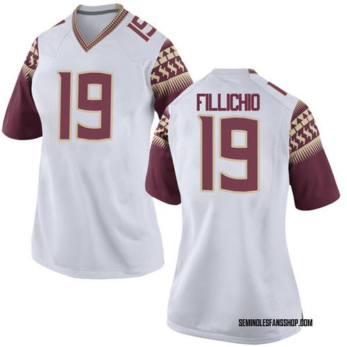 Women's Nike Beau Fillichio Florida State Seminoles Game White Football College Jersey