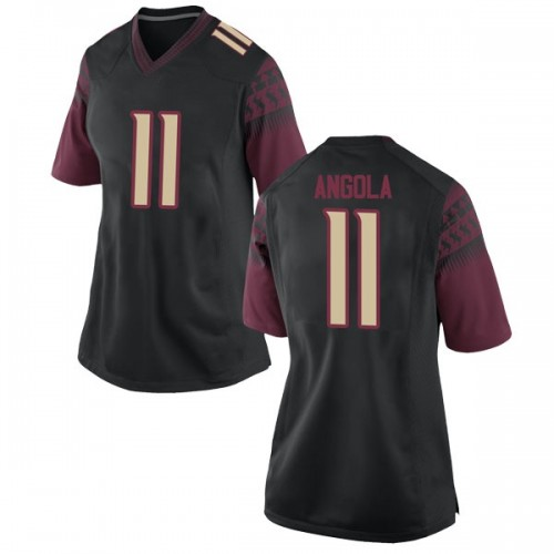Women's Nike Braian Angola Florida State Seminoles Game Black Football College Jersey