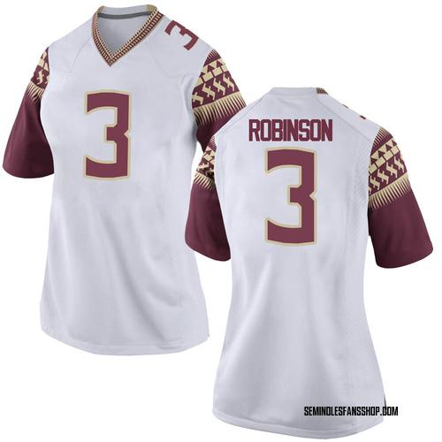 Women's Nike Bryan Robinson Florida State Seminoles Game White Custom Football College Jersey
