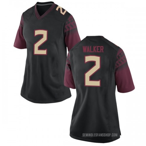 Women's Nike CJ Walker Florida State Seminoles Game Black Football College Jersey