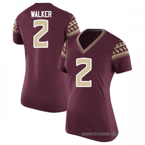 Women's Nike CJ Walker Florida State Seminoles Game Garnet Football College Jersey