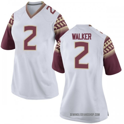 Women's Nike CJ Walker Florida State Seminoles Game White Football College Jersey