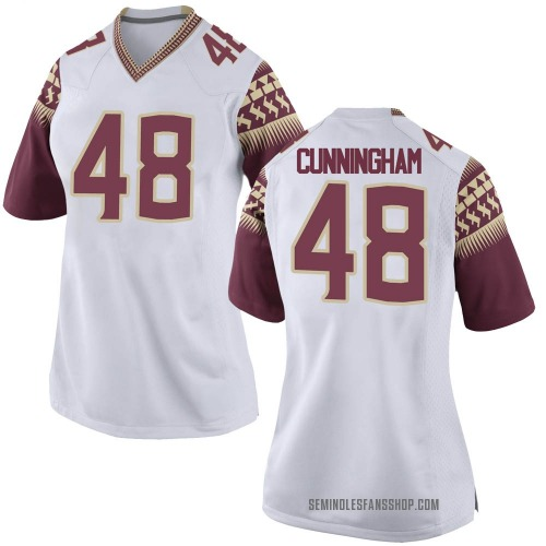 Women's Nike Caden Cunningham Florida State Seminoles Game White Football College Jersey