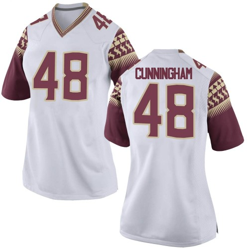 Women's Nike Caden Cunningham Florida State Seminoles Replica White Football College Jersey