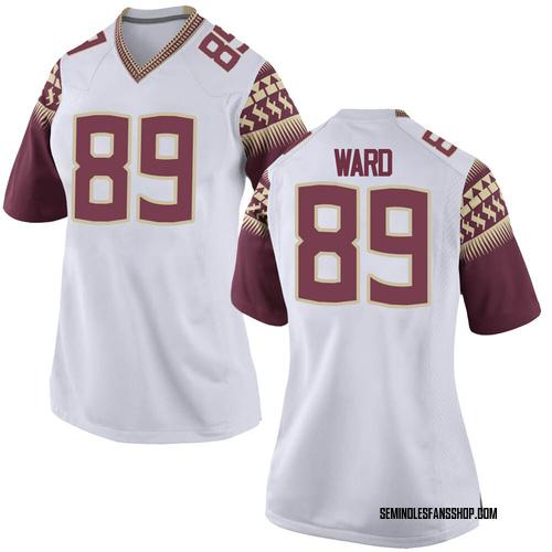 Women's Nike Caleb Ward Florida State Seminoles Game White Football College Jersey