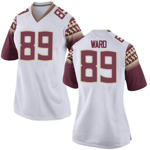 Women's Nike Caleb Ward Florida State Seminoles Replica White Football College Jersey