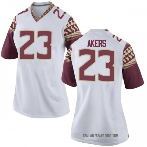 Women's Nike Cam Akers Florida State Seminoles Game White Football College Jersey