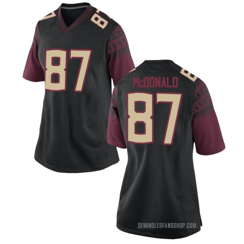 Women's Nike Camm McDonald Florida State Seminoles Game Black Football College Jersey