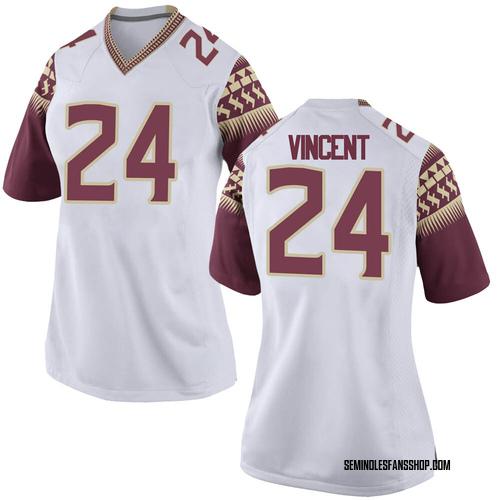 Women's Nike Cedric Vincent Florida State Seminoles Game White Custom Football College Jersey