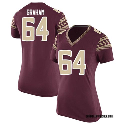 Women's Nike Chris Graham Florida State Seminoles Game Garnet Football College Jersey