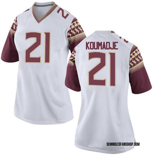 Women's Nike Christ Koumadje Florida State Seminoles Game White Football College Jersey