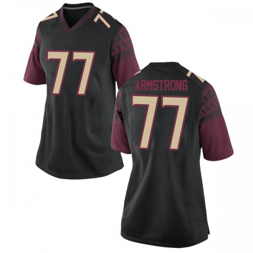 Women's Nike Christian Armstrong Florida State Seminoles Game Black Football College Jersey