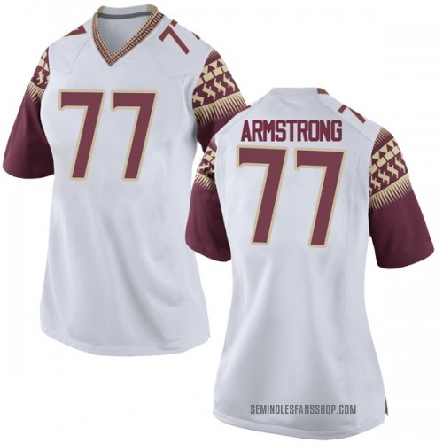 Women's Nike Christian Armstrong Florida State Seminoles Game White Football College Jersey