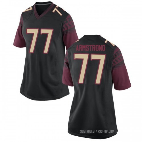 Women's Nike Christian Armstrong Florida State Seminoles Replica Black Football College Jersey
