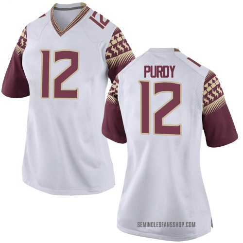 Women's Nike Chubba Purdy Florida State Seminoles Game White Custom Football College Jersey