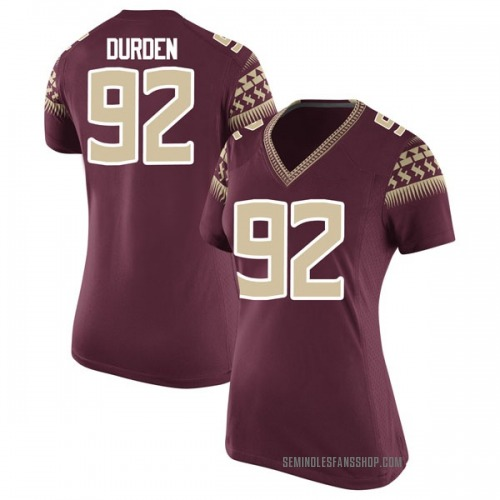 Women's Nike Cory Durden Florida State Seminoles Game Garnet Football College Jersey