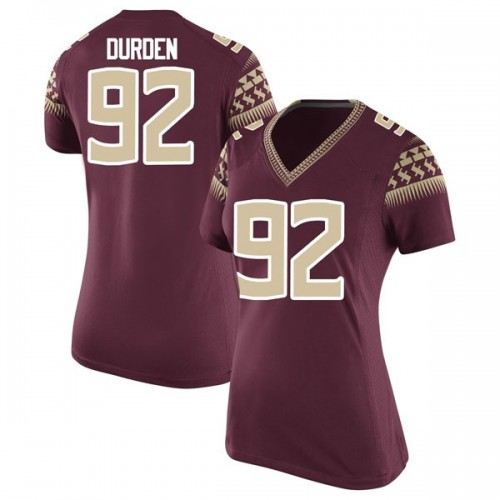 Women's Nike Cory Durden Florida State Seminoles Replica Garnet Football College Jersey