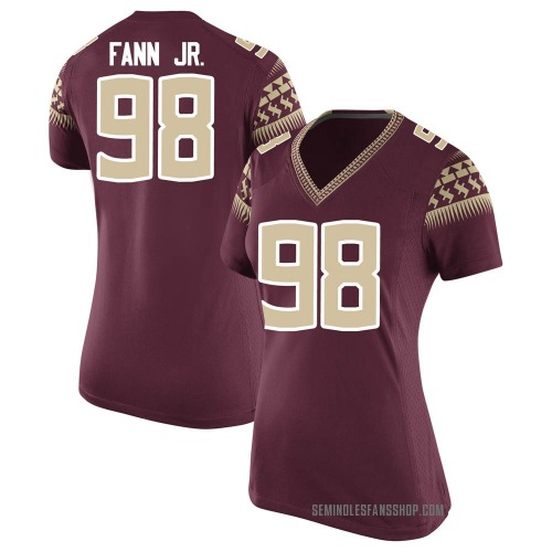 Women's Nike Curtis Fann Jr. Florida State Seminoles Game Garnet Football College Jersey