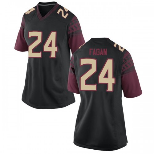 Women's Nike Cyrus Fagan Florida State Seminoles Game Black Football College Jersey