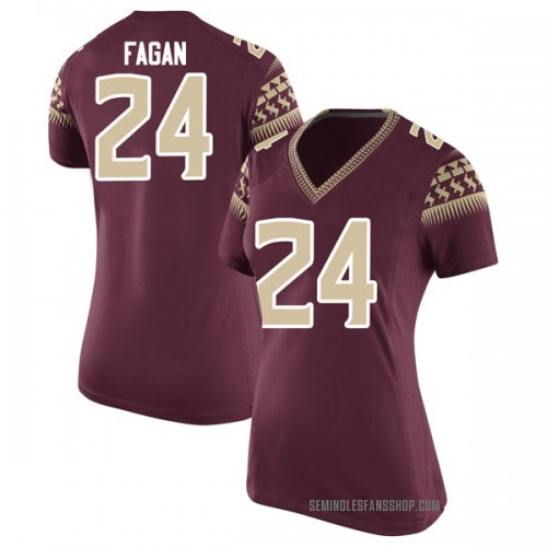 Women's Nike Cyrus Fagan Florida State Seminoles Game Garnet Football College Jersey