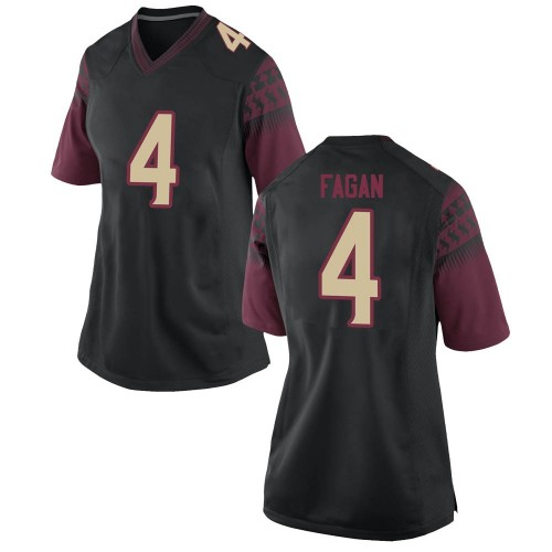 Women's Nike Cyrus Fagan Florida State Seminoles Replica Black Football College Jersey