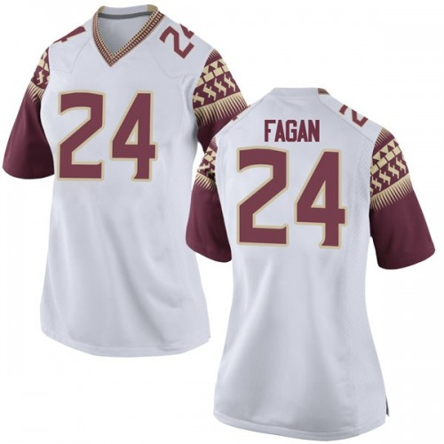 Women's Nike Cyrus Fagan Florida State Seminoles Replica White Football College Jersey