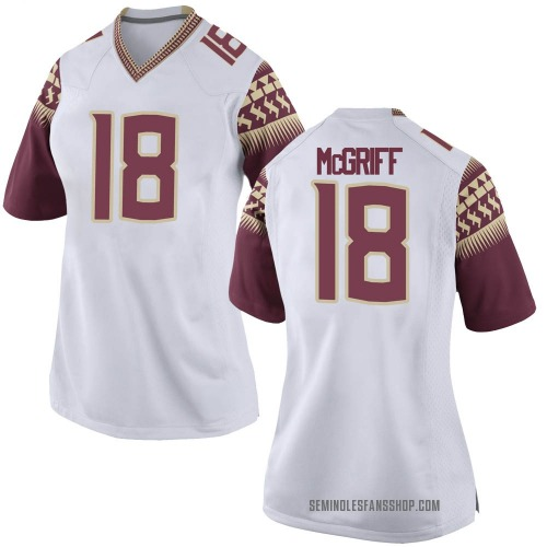 Women's Nike D'Anfernee McGriff Florida State Seminoles Game White Football College Jersey