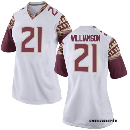Women's Nike Darion Williamson Florida State Seminoles Replica White Football College Jersey