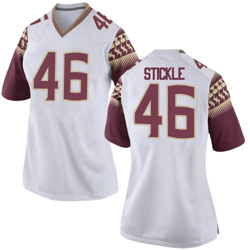 Women's Nike David Stickle Florida State Seminoles Game White Football College Jersey