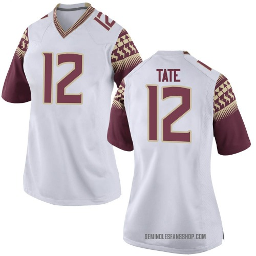 Women's Nike Demorie Tate Florida State Seminoles Game White Football College Jersey