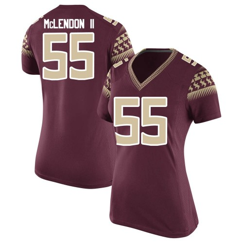Women's Nike Derrick McLendon II Florida State Seminoles Game Garnet Football College Jersey