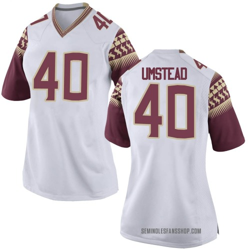 Women's Nike Ethan Umstead Florida State Seminoles Game White Football College Jersey