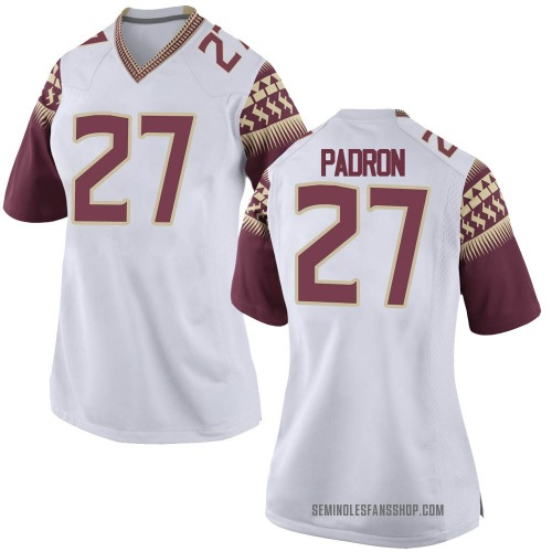 Women's Nike Fernando Padron Florida State Seminoles Game White Football College Jersey
