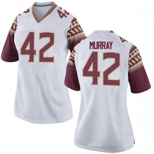 Women's Nike Garrett Murray Florida State Seminoles Replica White Football College Jersey