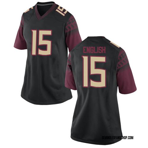 Women's Nike Gino English Florida State Seminoles Game Black Football College Jersey