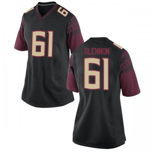 Women's Nike Grant Glennon Florida State Seminoles Game Black Football College Jersey