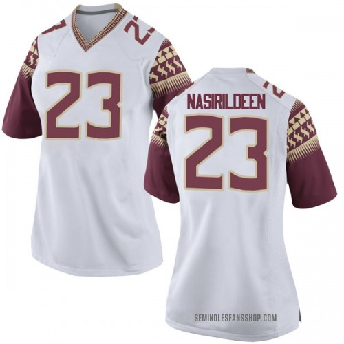 Women's Nike Hamsah Nasirildeen Florida State Seminoles Game White Football College Jersey