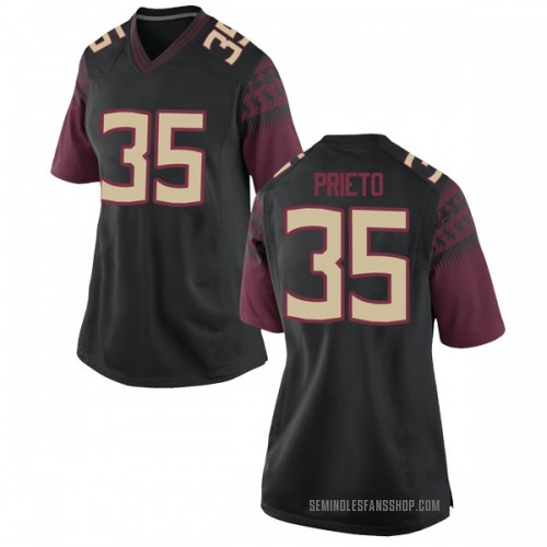 Women's Nike Harrison Prieto Florida State Seminoles Game Black Football College Jersey