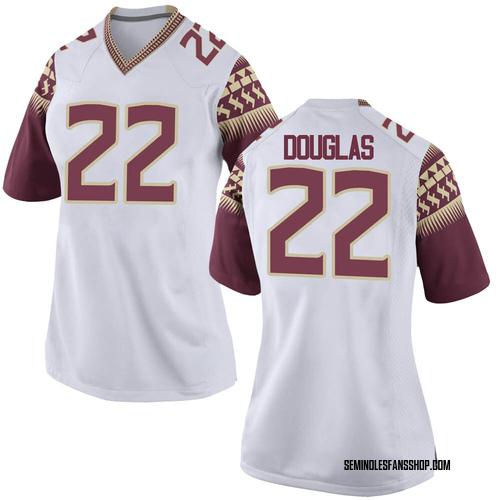 Women's Nike Ja'Khi Douglas Florida State Seminoles Game White Football College Jersey