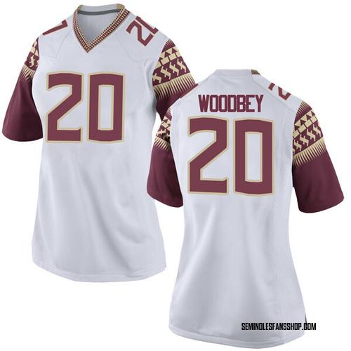 Women's Nike Jaiden Woodbey Florida State Seminoles Game White Football College Jersey