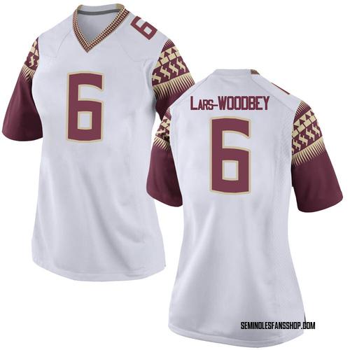 Women's Nike Jaiden Woodbey Florida State Seminoles Replica White Football College Jersey