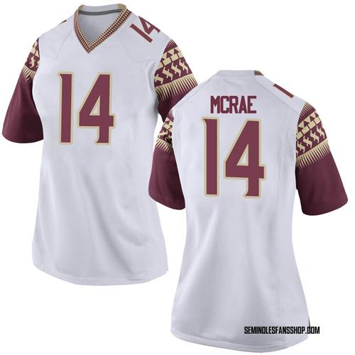 Women's Nike Jaleel McRae Florida State Seminoles Game White Football College Jersey