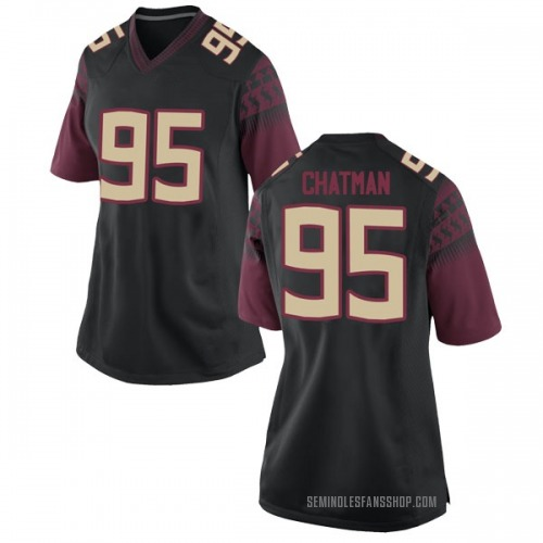 Women's Nike Jamarcus Chatman Florida State Seminoles Replica Black Football College Jersey